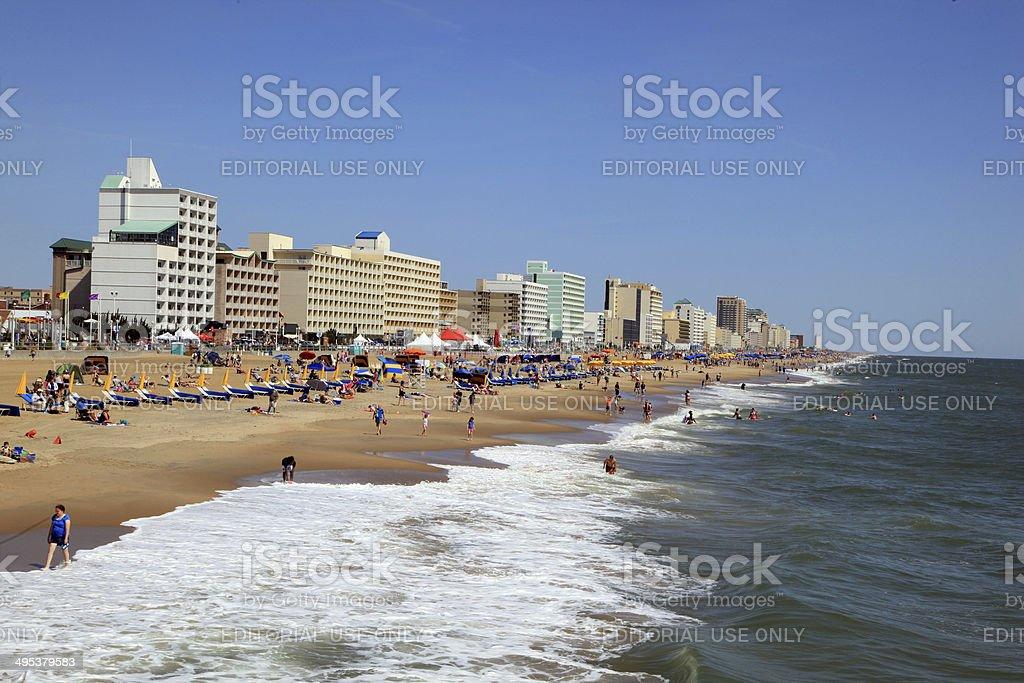 Virginia Beach Resort Stock Photo - Download Image Now - iStock