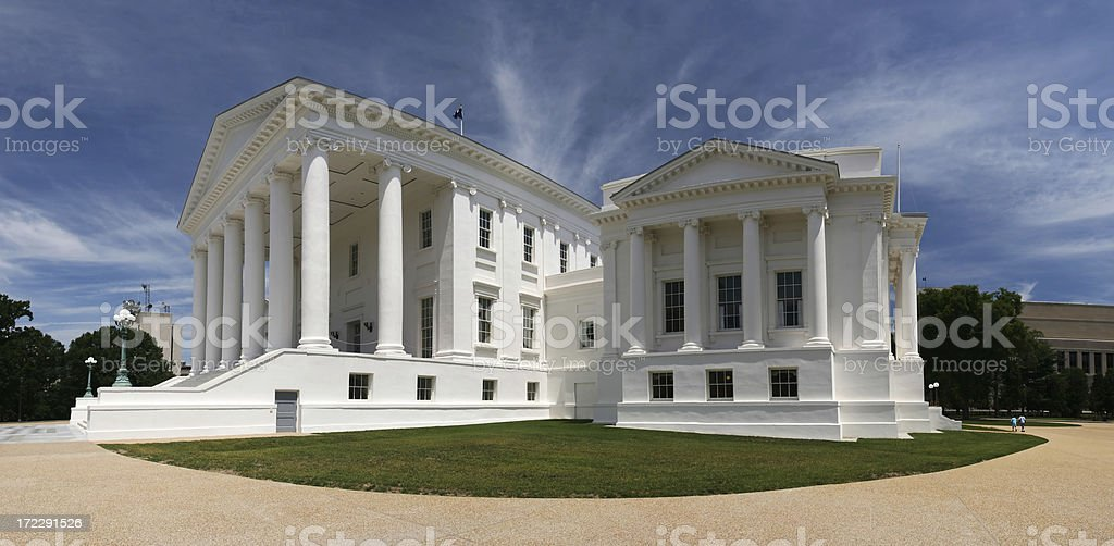 Virginia Capitol Side stock photo