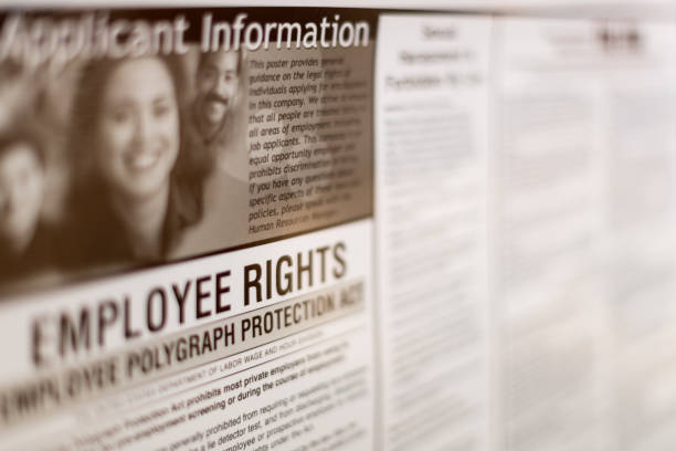 Virginia Employee rights information board sign stock photo