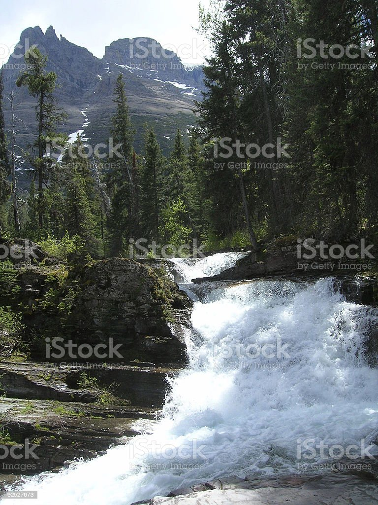 Virginia Falls, Glacier National Park Montana royalty-free stock photo