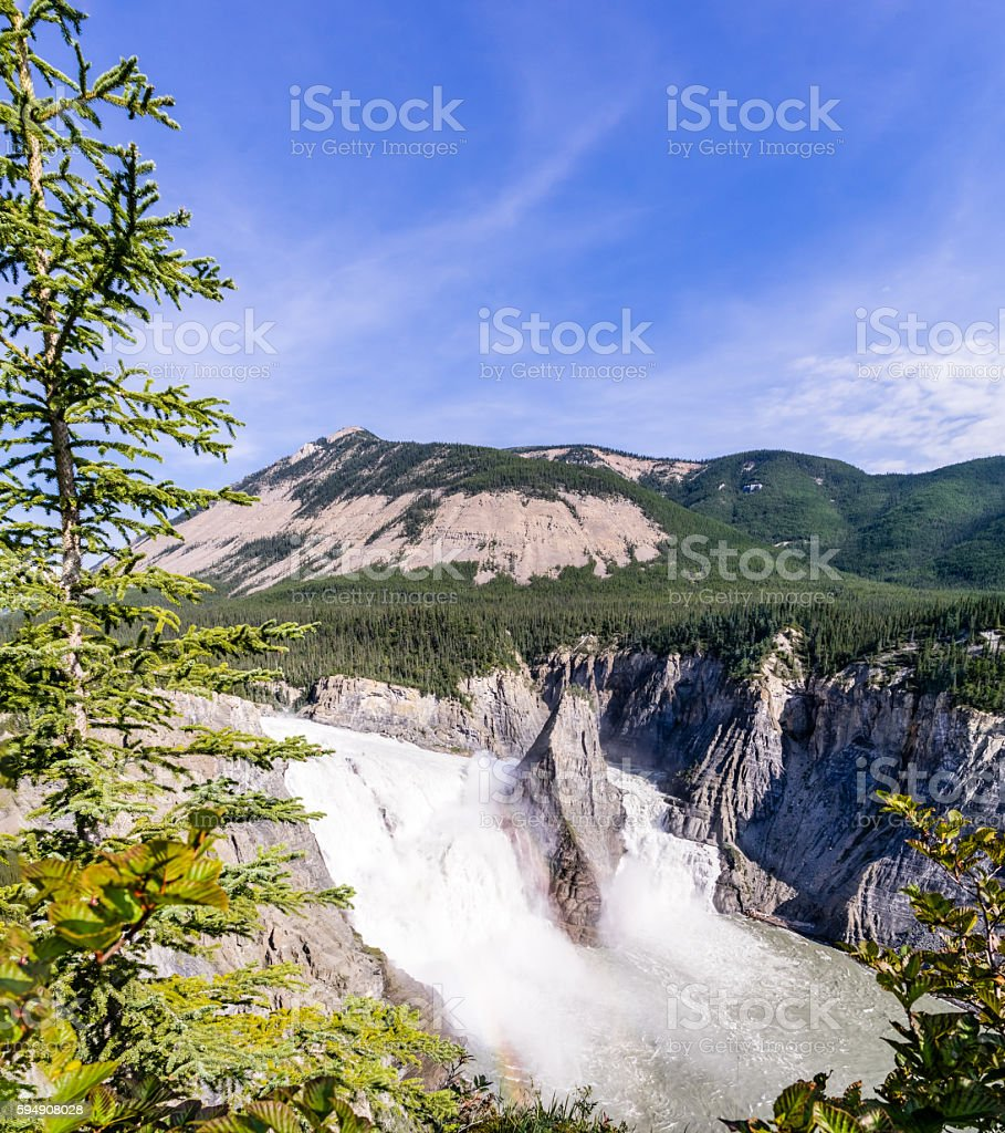 Virginia Falls - South Nahanni river, Canada stock photo