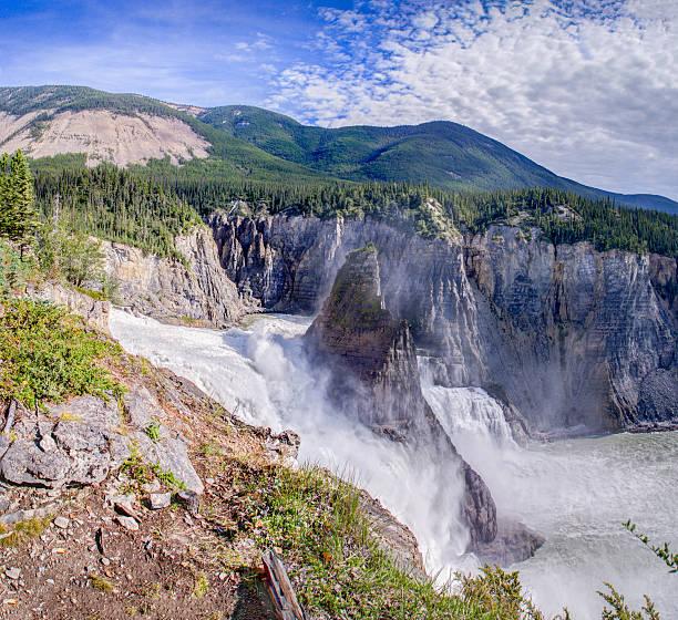 Virginia Falls - South Nahanni river stock photo