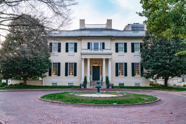 virginia governors mansion - stately home stock photos and pictures