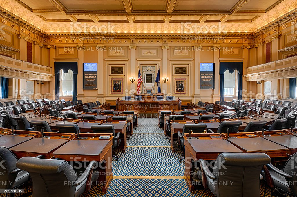 Virginia House Chamber stock photo