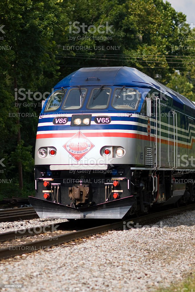 Virginia Railway Express (VRE) Locomotive royalty-free stock photo