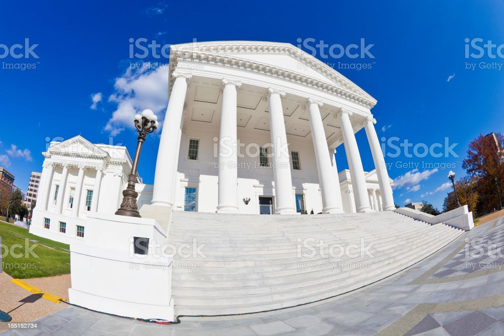 Virginia State Capitol Building In Richmond royalty-free stock photo