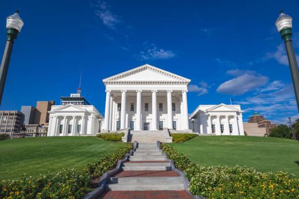 Virginia State Capitol building in Richmond Virginia stock photo