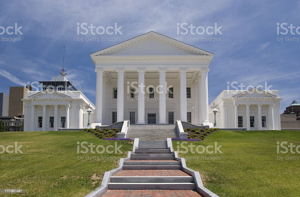 Virginia State Capitol Front Summer stock photo