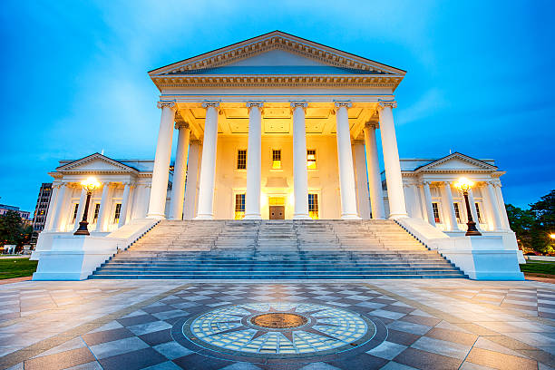 Virginia State Capitol In Richmond stock photo