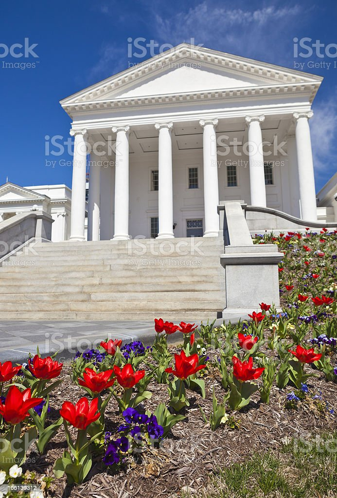 Virginia State Capitol In Richmond, VA During The Spring stock photo