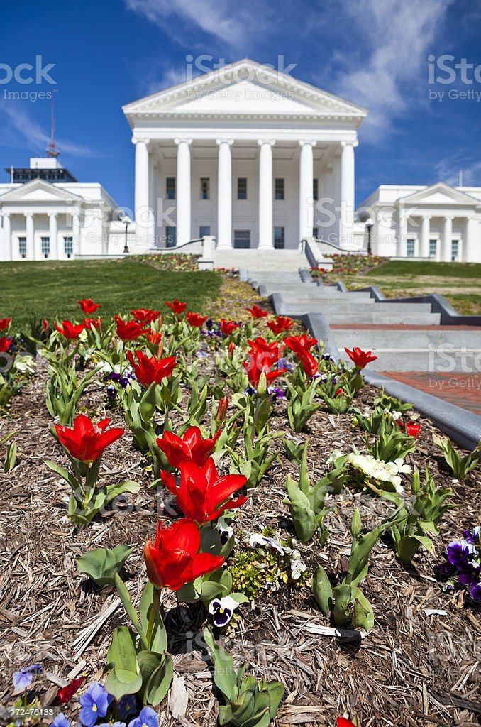 Virginia State Capitol In Richmond, VA During The Spring royalty-free stock photo