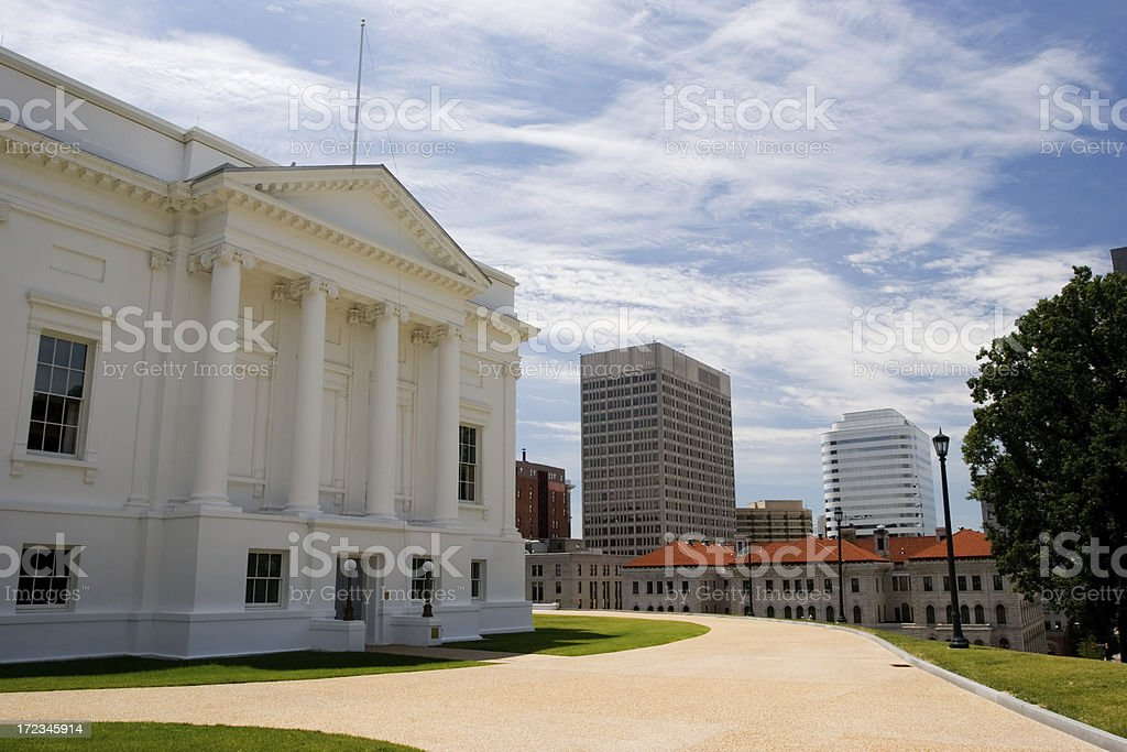 Virginia State Capitol Side stock photo