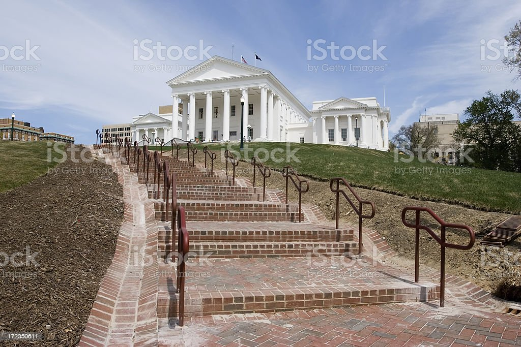 Virginia State Capitol Walkway stock photo