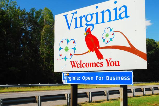 Virginia State Lines stock photo