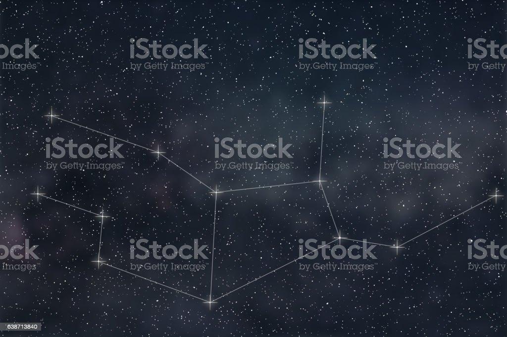 Virgo Constellation. Zodiac Sign Virgo constellation lines stock photo