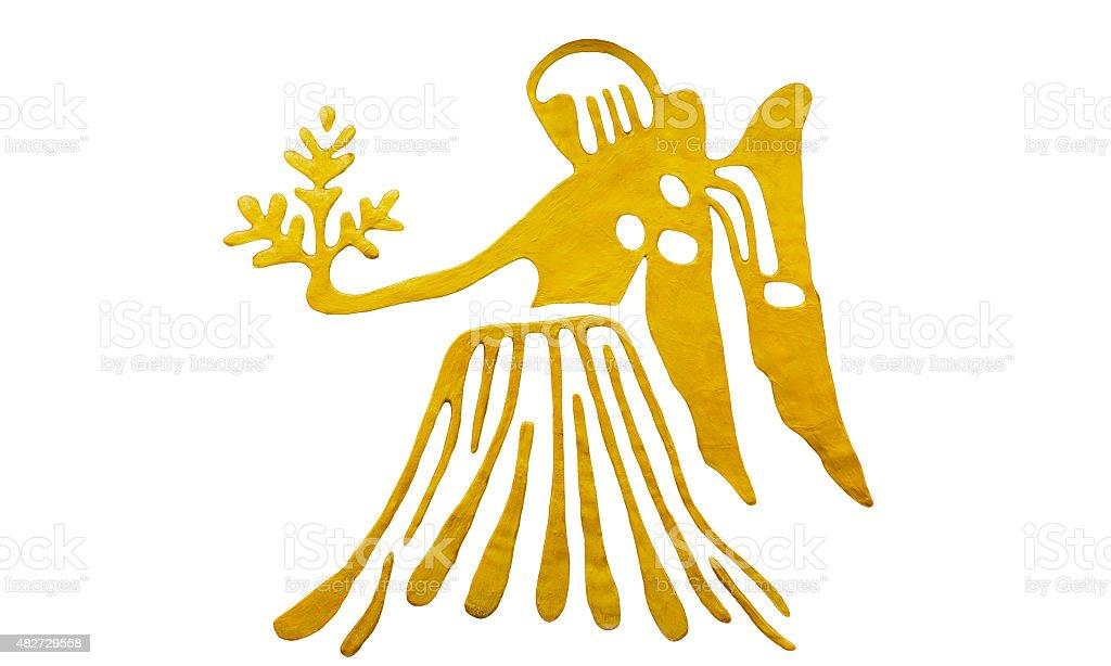 Virgo sign of horoscope isolated on white stock photo