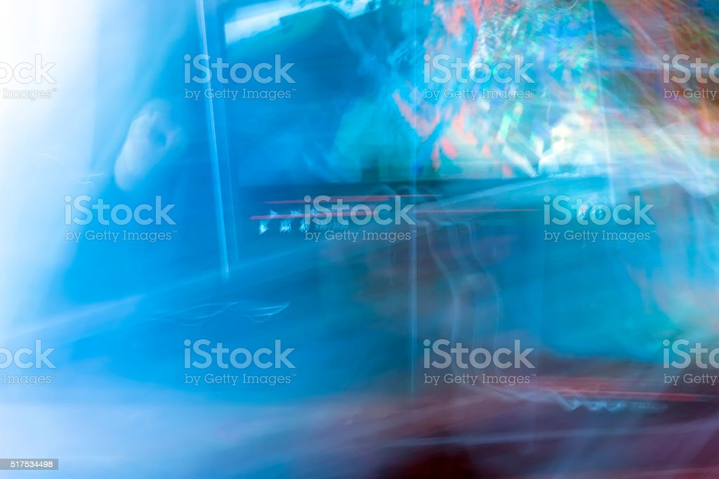 Marvelous Virtual Abstract Fantasy Cyber Reality Room Blue Color Stock Download Free Architecture Designs Scobabritishbridgeorg