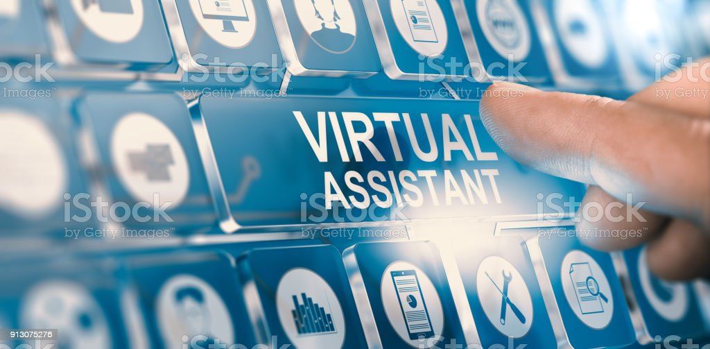 Virtual Assistant; Personal PA Services stock photo