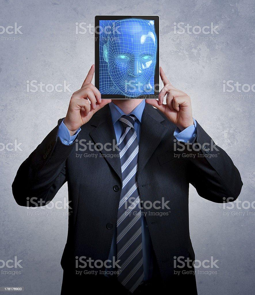 Virtual businessman royalty-free stock photo