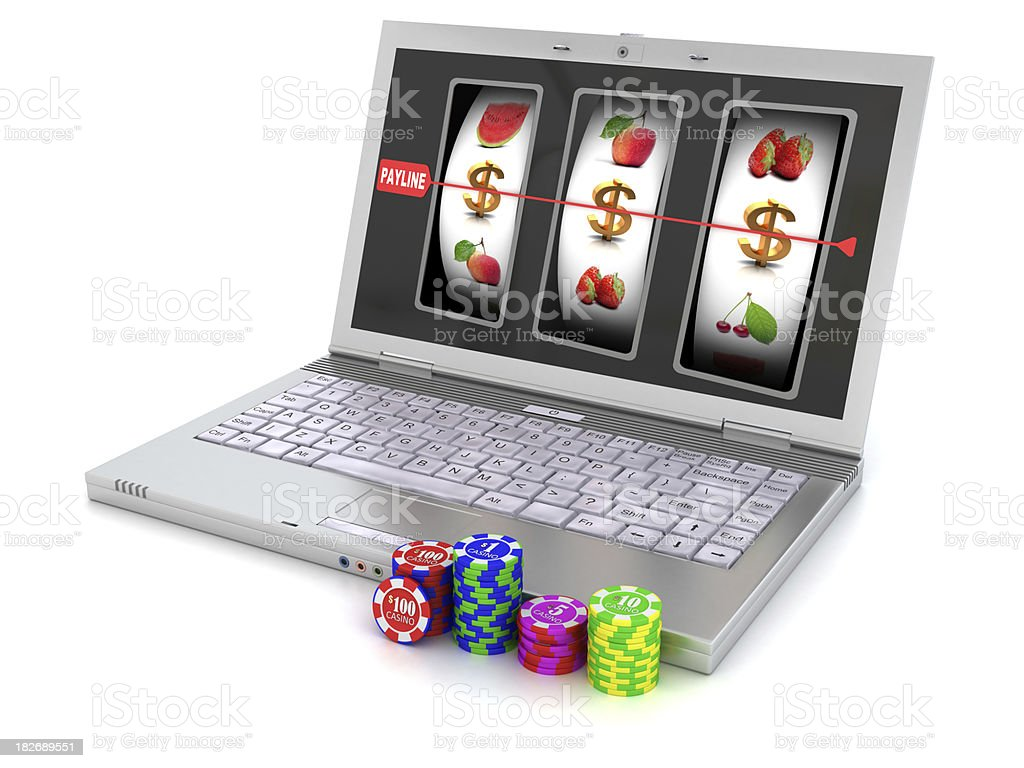 Virtual casino stock photo