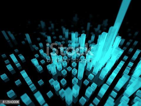 Cyberspace concept. 3D render