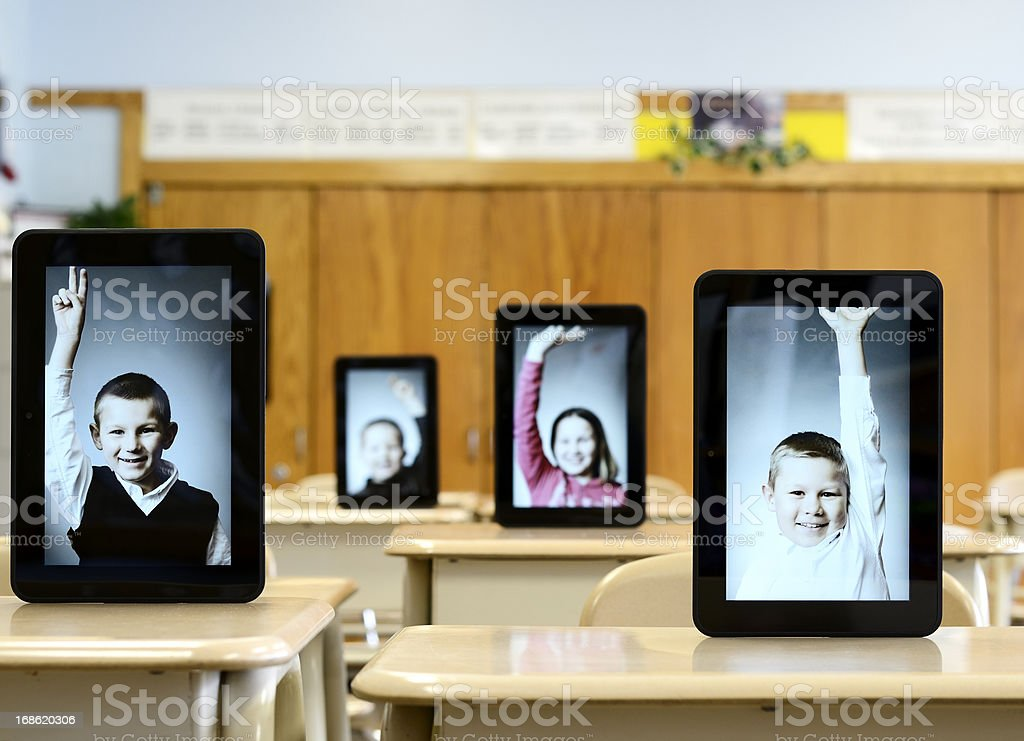 Virtual classroom stock photo