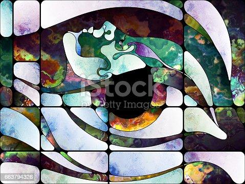 663794638 istock photo Virtual Colored Glass 663794326
