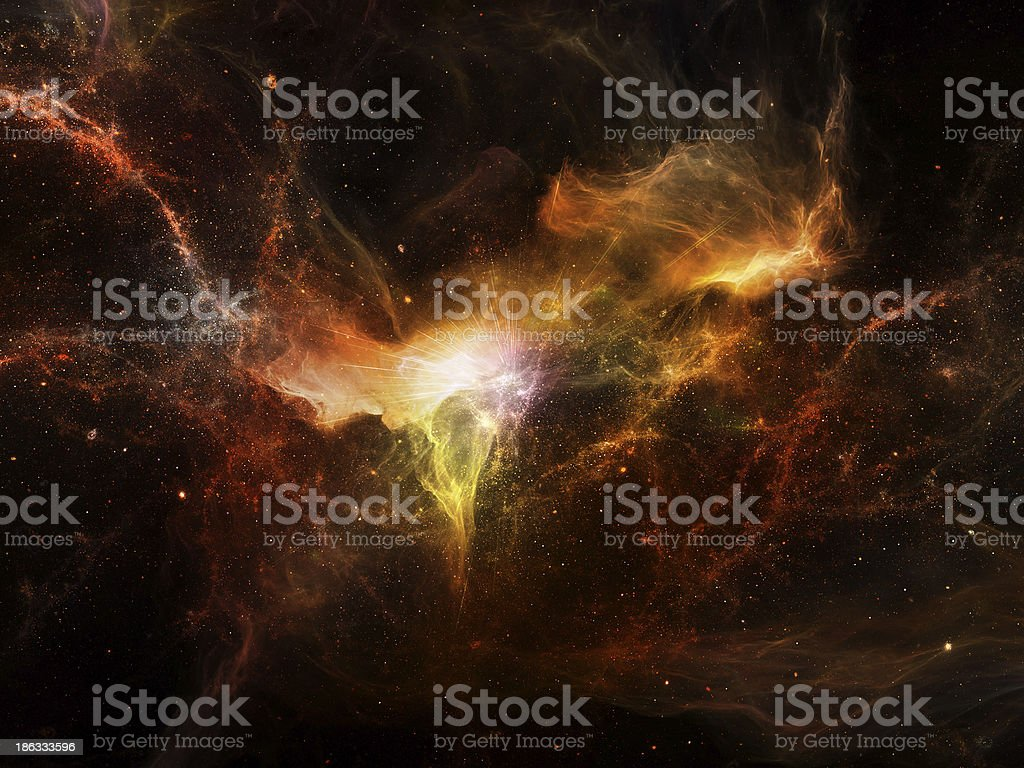 Virtual Cosmos royalty-free stock photo