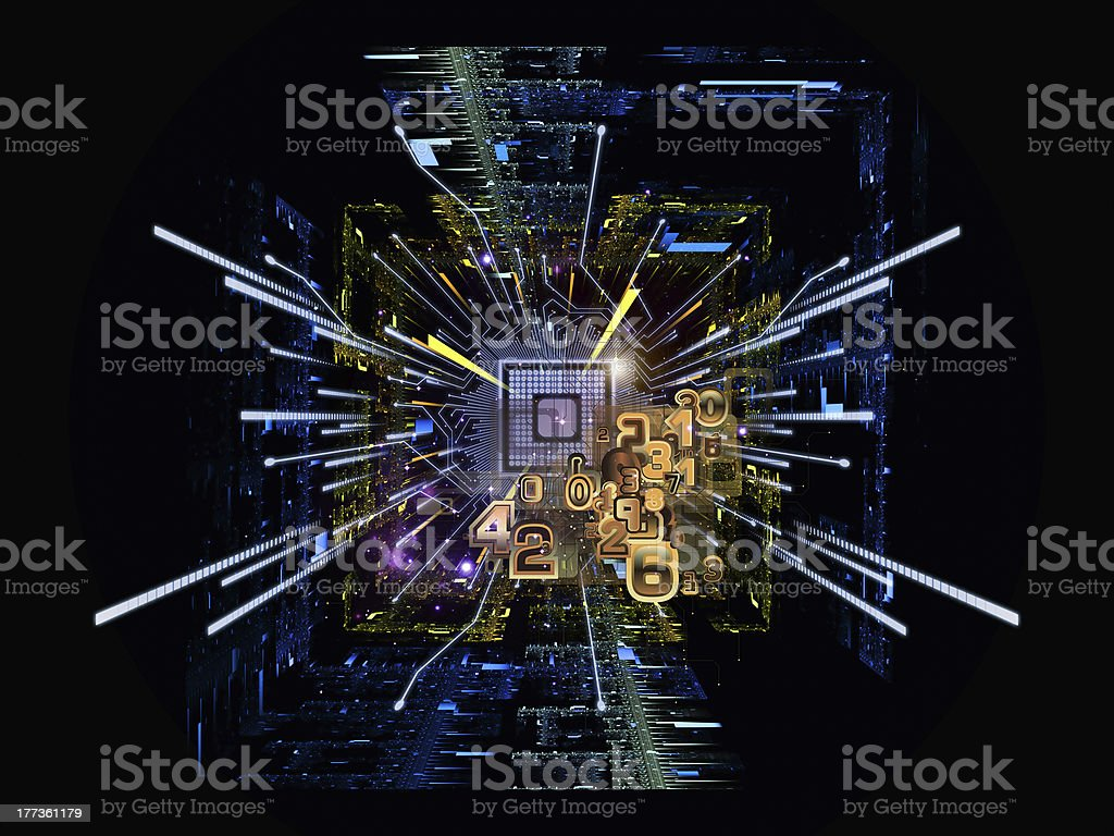 Virtual CPU royalty-free stock photo