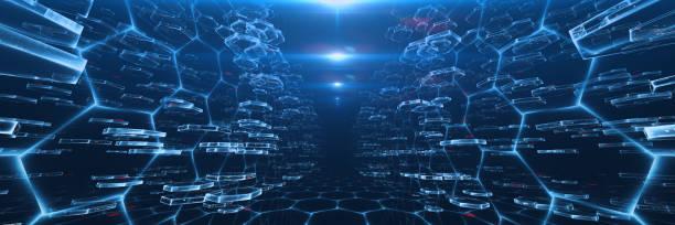Virtual DATA Center Concept stock photo