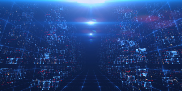 Virtual Data Center Stock Photo - Download Image Now