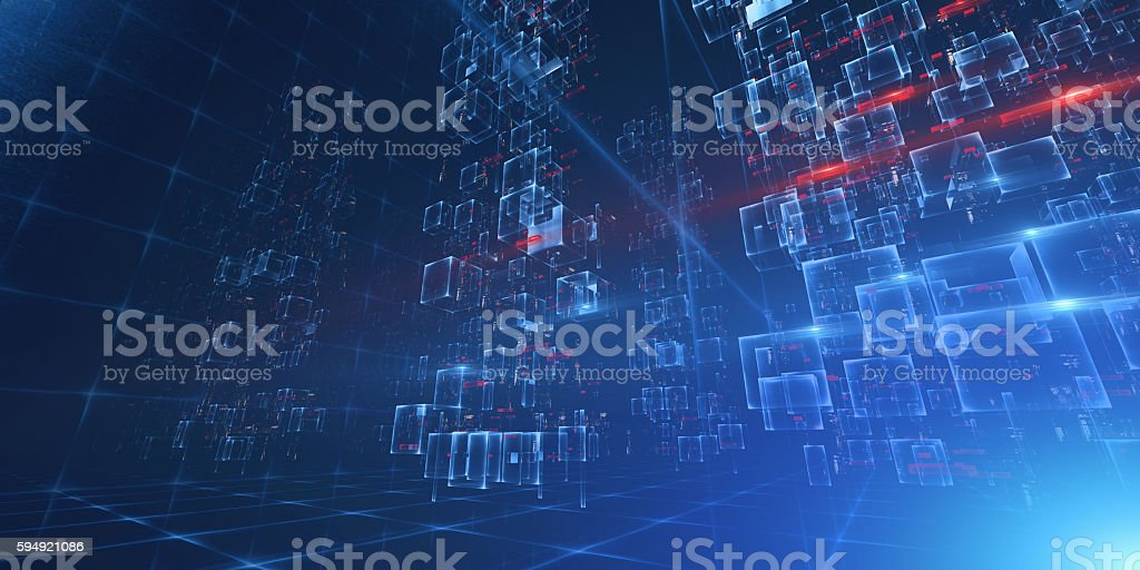 Virtual Data Center stock photo