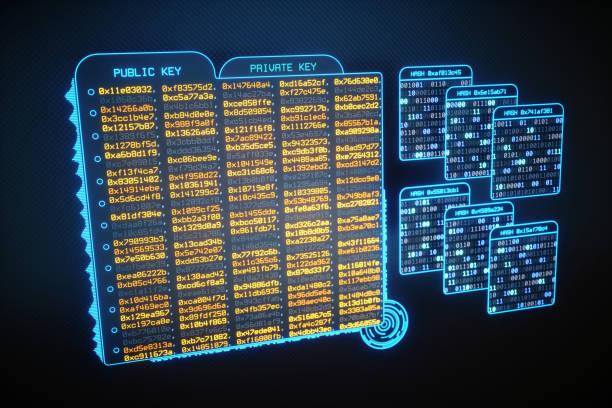 Virtual Data Files Containing Cryptographic Keys stock photo