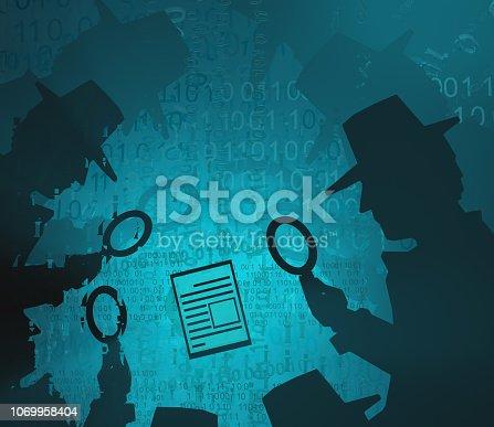 istock Virtual Detective Scrutiny 1069958404