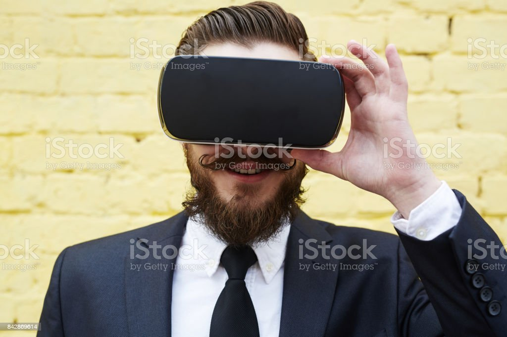 Virtual experience stock photo