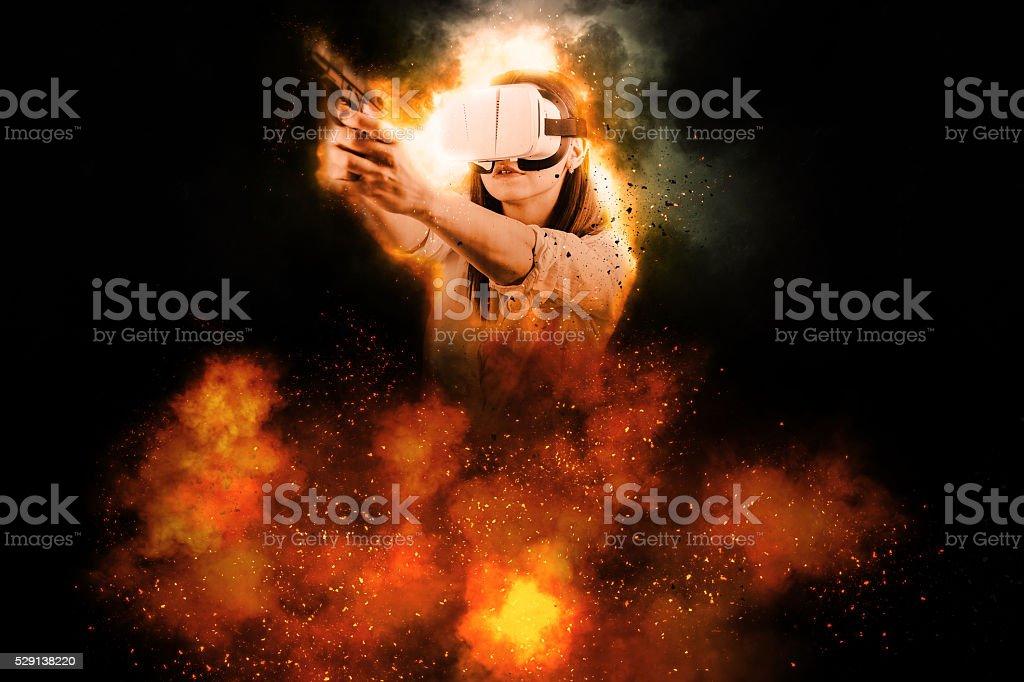 Virtual explosion stock photo