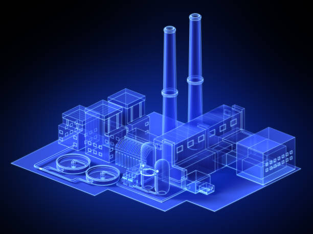virtual factory stock photo
