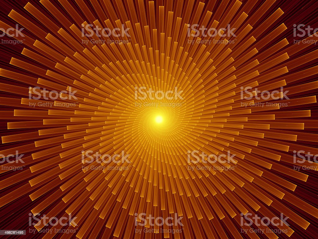 Virtual Fractal Burst stock photo