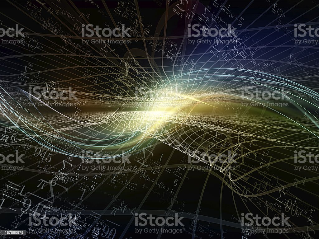 Virtual Fractal Realms stock photo