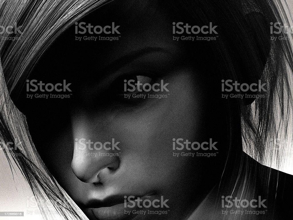 Virtual Girl royalty-free stock photo