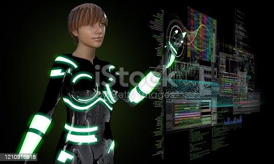 957759714 istock photo Virtual Interactive Menu in The Future 1210916518