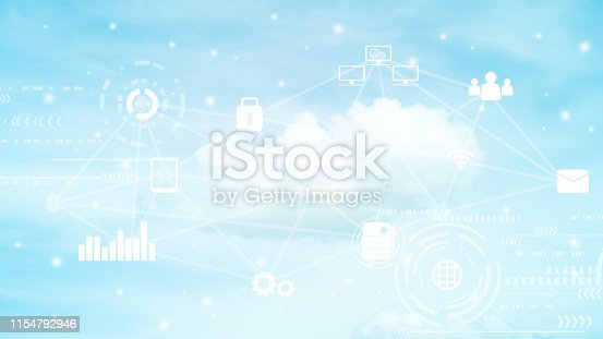 istock virtual interface of cloud computing network for transfer to synch data upload and download , future technology business concept 1154792946