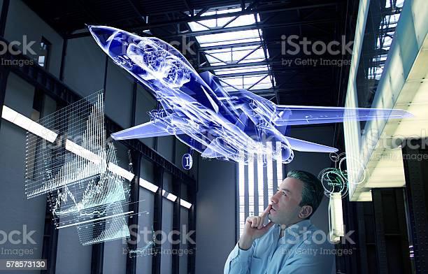 Virtual Jet Design Tests Stock Photo - Download Image Now