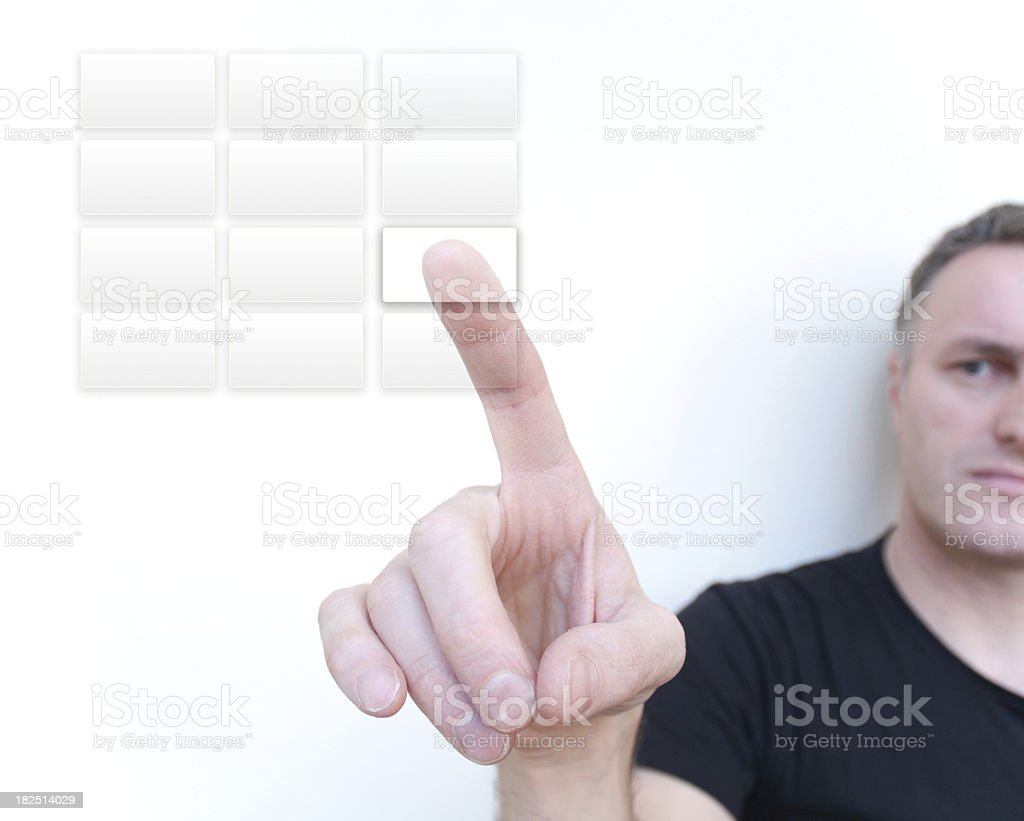 Virtual keypad royalty-free stock photo