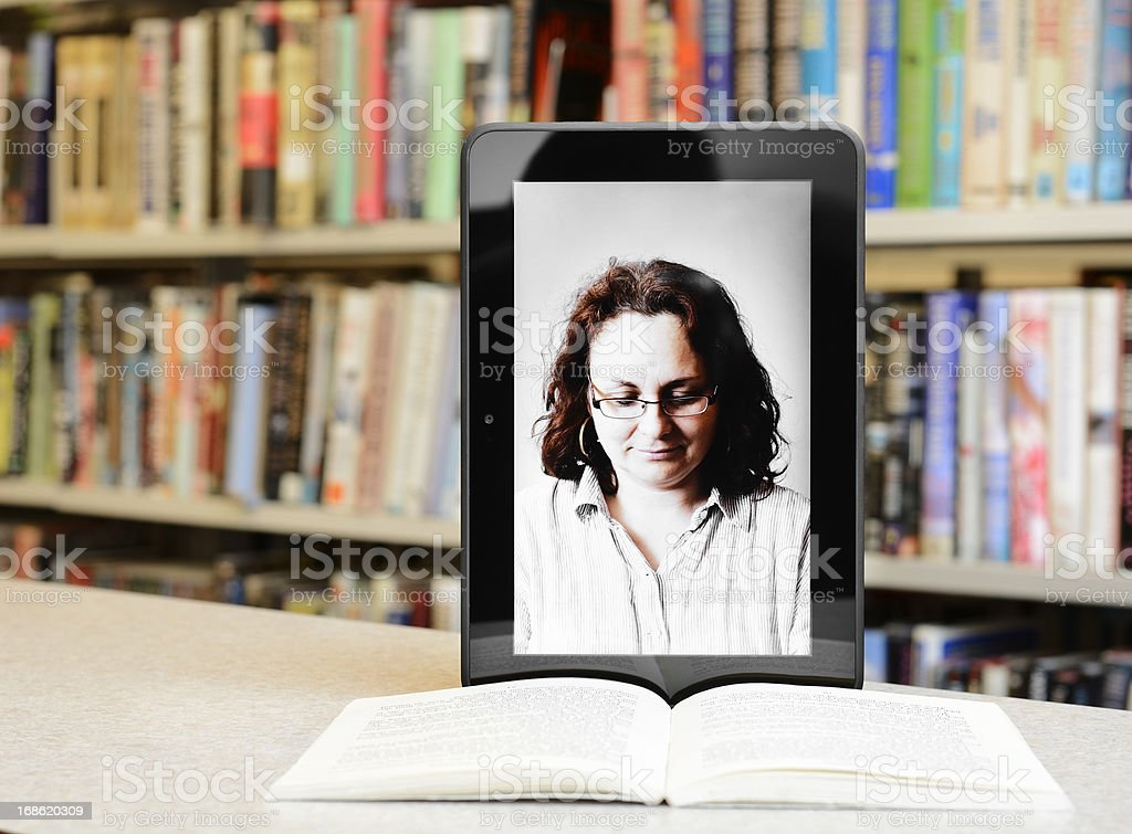 Virtual library royalty-free stock photo