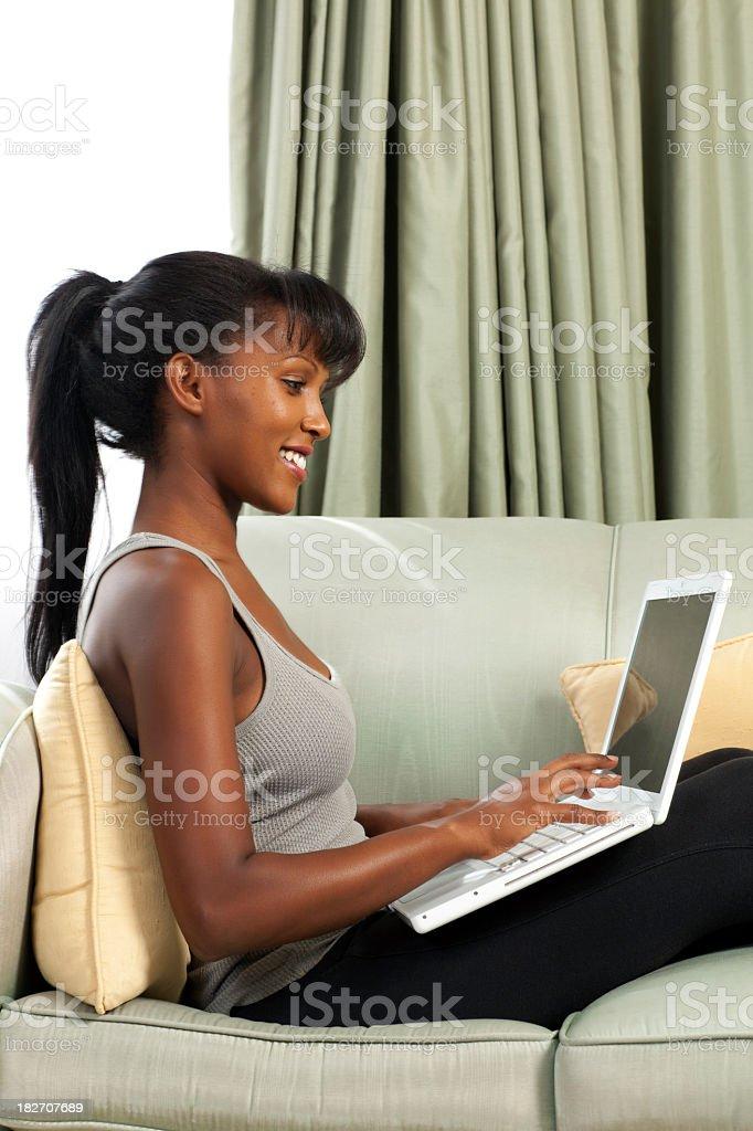 Virtual life at home royalty-free stock photo