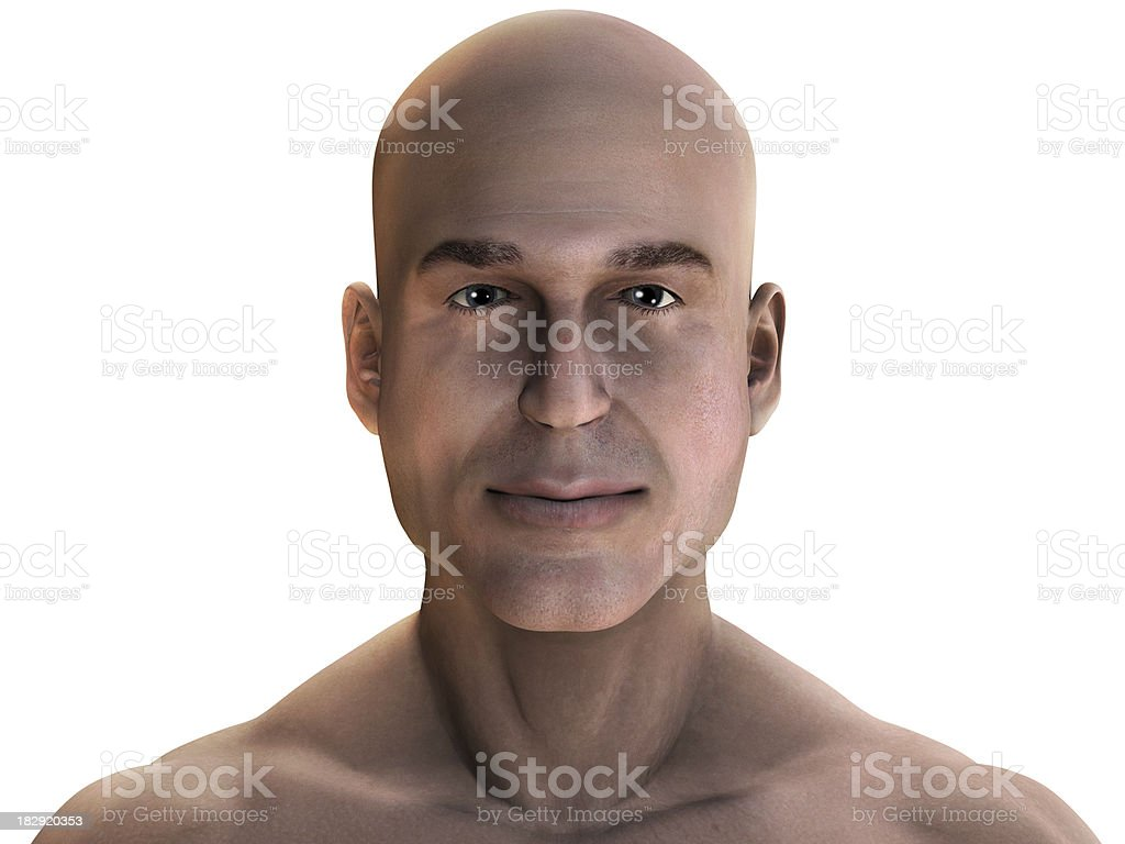 Virtual man stock photo
