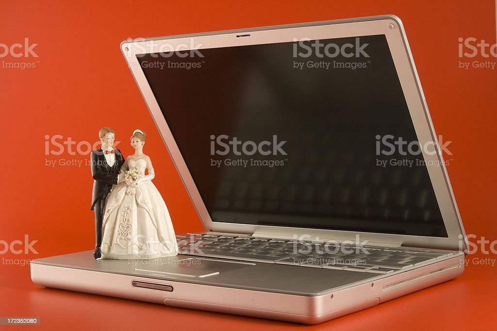 Virtual marriage royalty-free stock photo