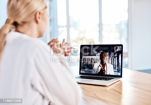 istock Virtual meetings for those on demand discussions 1159312430