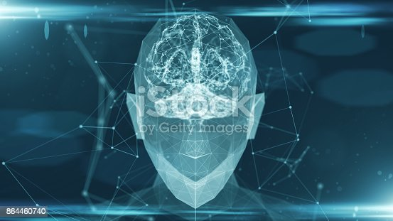 864460734istockphoto Virtual mind of a digital learning AI artificial intelligence robot 864460740
